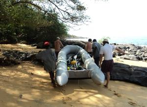 Banana Divers Boat, Sierra Leone