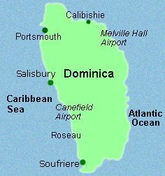Accommodation For Divers In The Commonwealth Of Dominica West - Map of dominica caribbean sea