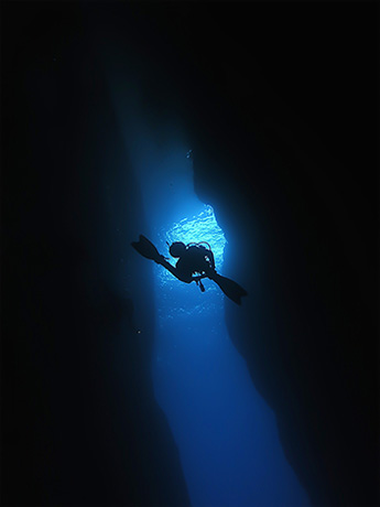 Diver in the Inland Sea, Gozo
