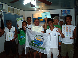 Green Fins Dive Centre receive their pack of environmental materials - Photograph by Falk Siedel Green Fins Coordinator.jpg