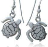Turtle earrings for scuba divers