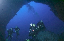 Divers on Elphinstone Arch