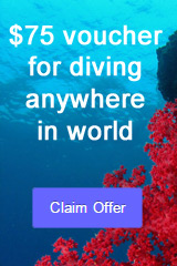 $75 voucher for diving anywhere in the world - claim offer