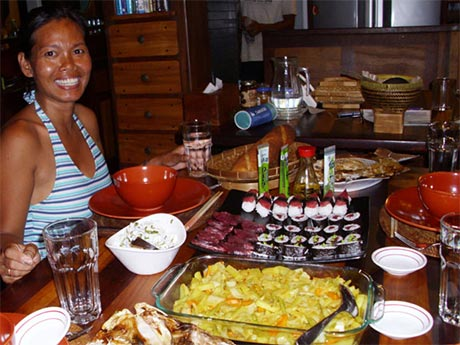 Yani Korth, Cook and Captain, Duyung Baru - food on the liveaboard