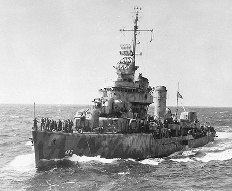 USS Aaron Ward, Solomon Islands