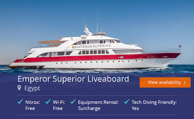Emperor Superior liveaboard in the Red Sea