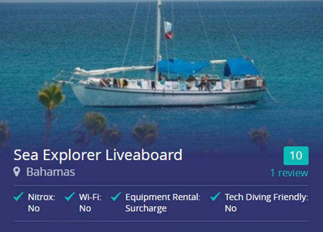 Sea Explorer liveaboard in the Bahamas