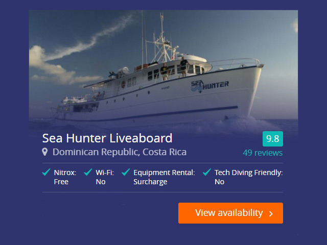 Sea Hunter liveaboard in the Cocos Islands