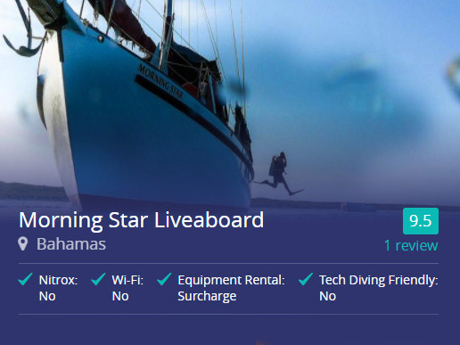 Morning Star liveaboard in the Bahamas