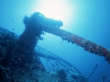 Gun on wreck of Thistlegorm