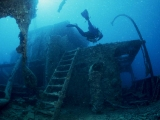 Diver on the Thistlegorm