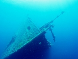The bow of the Umbria shipwreck