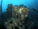 The Maldives, wreck foredeck