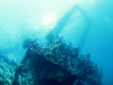 The Maldives, wreck superstructure
