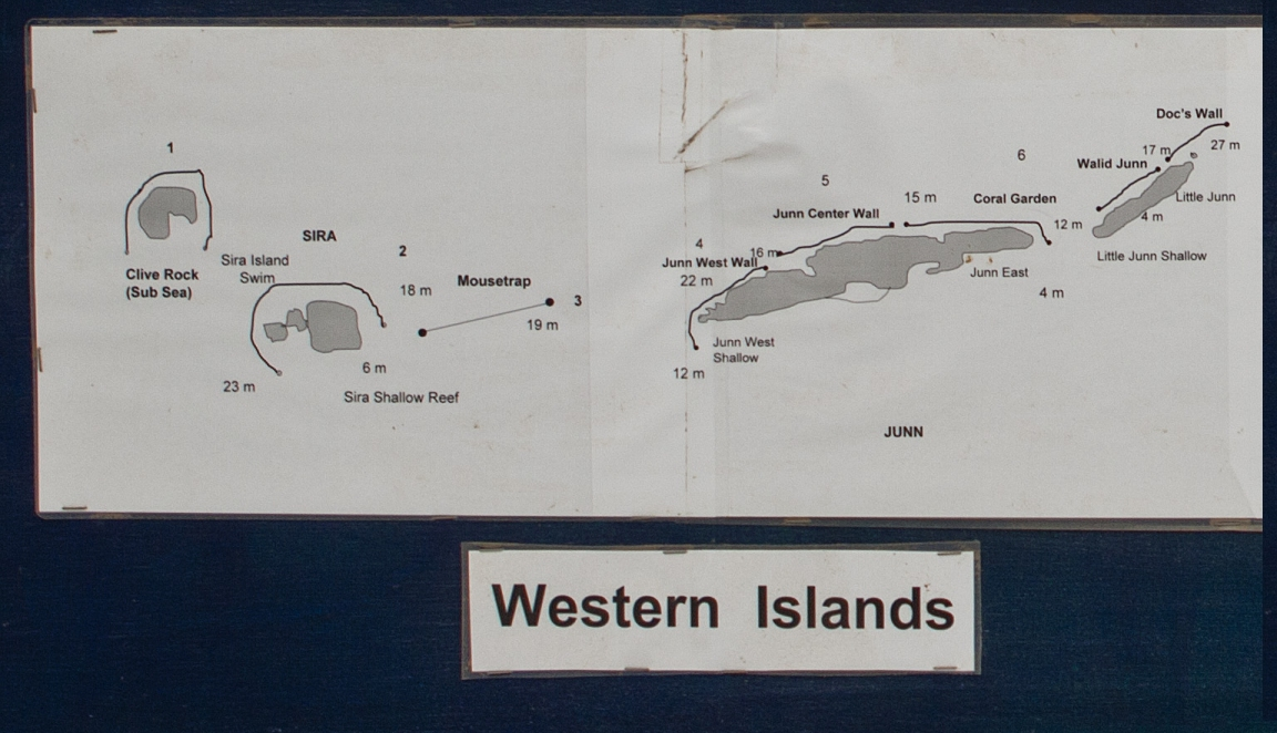 Dive Site Map of Western Daymaniyat Islands