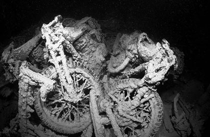 Motor Bikes on the Thistlegorm