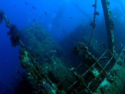 The Ghiannis-D shipwreck in the Red Sea